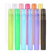 400pcs 10ml 1/3 Unzen-Spray-Zerstäuber Parfüm Düfte Duft Vials bereifte Plastikschlauch Mix-Bunte Leere nachfüllbare für Männer Frauen Flasche