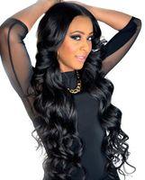 Viya Вьетнамская волна тела человеческие пачки для волос плетение натуральный черный цвет можно цветное 8-30 дюймов 3 шт. / Лот REMY