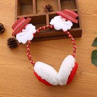 Natale Cuffie Babbo Natale fascia dell'orecchio Muffs natale del fumetto dei capelli della peluche bastoni dei capelli Inverno Accessori OOA7449