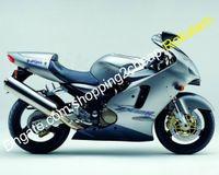 Kawasaki Ninja ZX12R 2000 2001 ZX 12R 00 01 ZX-12R 페어링 오토바이 키트 실버 블랙 (사출 성형)