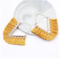 Orecchini nappa per donna Orecchini pendenti Gioielli di moda Festa nuziale Orecchini lunghi Boucle D'oreille Femme 2019 GB893