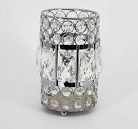 Europäischen Stil Gold Kristall Glas Kerzenhalter Laterne für Hochzeit Mittelstücke Hochzeit Veranstaltung Dekoration decor0036