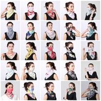 여성 스카프 페이스 마스크 실크 쉬폰 손수건 야외 방풍 반 얼굴 방진 양산 마스크 스카프 먼지 마스크 파티 마스크 T2I5796-1