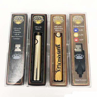 Ecig 금관 악기 건전지 너클 금 650mAh 나무 900mAh Vape 펜은 두꺼운 기름 금관 악기 카트리지를 위한 VV510 의 실 건전지를 미리 데웁니다
