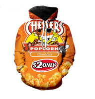 Hot Mode Hommes Hoodies Hot Cheetos 3D HD Imprimer Fox Casual Hoodies Couple Sweatshirts Survêtements Femmes Hoodies LM043