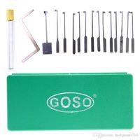 높은 품질 GOSO 14pcs 딤플 잠금 설정 카바 잠금 오프너 잠금 총 자물쇠 도구 선택 선택