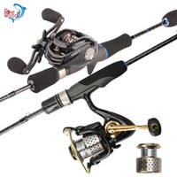 RoseWood Angelset 1,8m Fuji Angelrute Combo Ultraleicht Baitcasting Spinning Reel Combos Angelgerät für Outdoor-Reisen