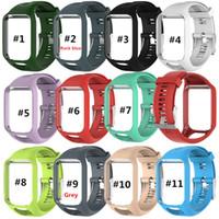 DHL pour TomTom 2 Watchband Série 3 montre bracelet de rechange en silicone Bracelet Bracelet pour TomTom Runner 2 3 Montre GPS
