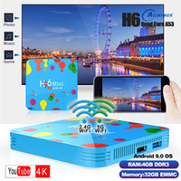 H96 Mini Android 9.0 TV Box Allwinner H6 Quad Core 4 Go 32 Go 6K Wifi Buletooth Google Player Youtube Décodeur