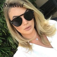 RunBird 2019 Fashion Punk Cool Rivets Style Sunglasses Men Women UV400 Brand Design SteamPunk Sun Glasses 5363R