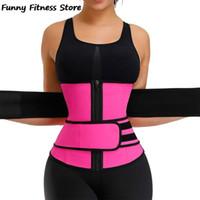 Cintura Suporte Sweat Treinador Corset Mulheres emagrecimento Correia Compactando Controle Bolsa Underbust Esportes Corpo Shaper Meninas Ajustável Shapewear