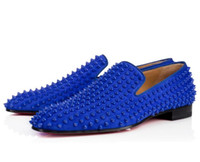 New Party Wedding Slip On Loafers Spiked Man DandelionTassel...