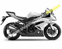 För Kawasaki ZX-6R 09 10 11 12 NINJA ZX6R ZX 6R 636 ZX636 2009-2012 Sport motorcykel karosseri Fairing White Black (formsprutning)