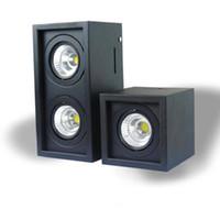 10W 20W COB LED потолка вниз свет AC110V-240V Холодный белый / теплый белый квадрат двойной светодиодный светильник лампы