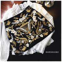 2020 новая мода женская высокая талия роскошный дизайн королевский стиль вышивка цветок трапециевидная короткая юбка S M L
