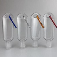 여행 VV35에 대한 열쇠 고리 후크 맑고 투명 플라스틱 손 소독제 병으로 품질 50ML 빈 알코올 리필 병