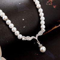 Новые богемные жемчужные свадебные ювелирные изделия наборы сливов FUX Rhinestone Rose Gold Crystal CZ Zircon свадебное ожерелье и серьги наборы для женщин