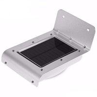 (16) LED 태양 야외 라이트 패널 야외 정원에 대한 모션 센서 LED 램프 에너지 절약 벽 램프 태양 광 보안 조명을 구동