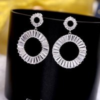Fashion New Arrival Sparkling Cubic Zirconia Earrings Jewelr...