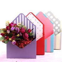 مصغرة الإبداعية ورقة مغلف أضعاف زهرة مربع باقة الزهور مربع ارتفع التعبئة والتغليف هدية مربع حفل زفاف الديكور