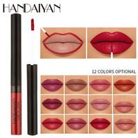 HANDAIYAN 12 colores rojo atractivo del lápiz labial mate Lipliner Doble Uso larga duración atractivo natural de señora Women lápiz labial a prueba de agua