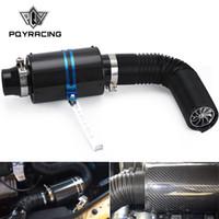 PQY - la toma de aire del ventilador Wit universal que compite con la fibra de carbono en frío de Consumo de Alimento Kit de la inducción de aire Filtro de aire Kit Box PQY-AIT14