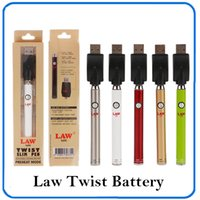 Authentic Law Preheat Battery with Bottom Twist Button 380mA...