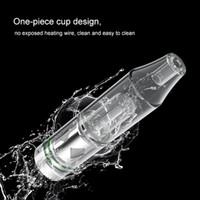 Longmada Kristall Vape Atomizer Tank-Whole-Quarz-Heizung 3in1 Wachsöl Shatter Dry Herb Vaporizer Gewinde 510 mit Wasserrohr Bubbler Glas