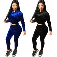 Marca Designer Mulheres Hoodies Two Piece Set Outfits Pulôver Leggings Treino camisa Calças jogging terno top crop sportswear sweatsuit