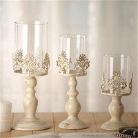 3 размер элегантный подсвечник куб стенд свеча подсвечник металлическая основа ремесло Votice большие стеклянные свечи свадебные подсвечники домашний декор