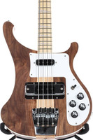 Rare 4003W Natural Walnut Baixo 4 cordas graves corpo WALNUT vintage ric 4003 Elétrica Bass Guitar Neck Thru Corpo Um PC Neck corpo New Hot