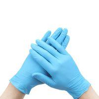 DHL UPS Durable guantes de nitrilo desechables resistentes al desgaste de los guantes de látex de caucho Alimentos de limpieza del hogar anti-estático azul 100pcs / caja