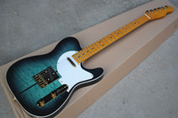 Custom Blue Electric Guitar with Merle Haggard Signature Tuf...