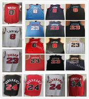 Genähte Männer Zach 8 Lavintrikots College Basketball 23 Michael JD Jersey Wendell 34 Carter Jr. Lauri 24 Markkanen Coby 0 Weiß