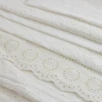 SICODA 2MasteExquisit Spitze 100% Baumwolle Ausschnitt Gestickter Gewebe Handgemachte DIY Dünnes Tuch Für Mädchen Kleid Stickerei Shirt Machen