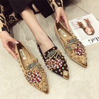 wholesale Mules Shoes Woman Flat Slippers With Rhinestone 20...