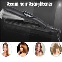 Profesyonel Elektrikli Düz Buhar Saç Düzleştirici Demir Seramik Nano Vapur Bakım Hairstyling Straighter Crimple Değnek Salon Tarak