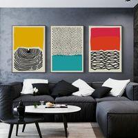 Moderne multicolore abstraite géométrique mur d'art de toile Peinture Affiches Galerie de photos et impressions enfants Cuisine Home Decor