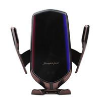 R1 R2 R3 R9 S5 S7 Chargeur sans fil automatique Smart Sensor Clamping voiture Téléphone induction QI Support De rack Pour iP X XS Sam