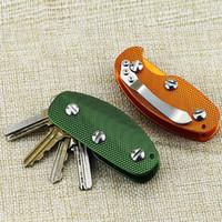 새로운 알루미늄 스마트 키 홀더 주최자 클립 폴더 키 체인 포켓 도구