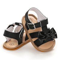 أحذية WEIXINBUY الطفل بنات القوس الصيف بو الجلود تنفس لينة أسفل الأحذية طفل رضيع الفتيات الصنادل شاطئ 0-18 M 3