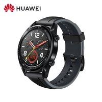 Original Huawei Uhr GT Smart Uhr Unterstützung GPS NFC Pulsmesser 5 ATM Wasserdichte Armbanduhr Sport Tracker Uhr Für Android iPhone