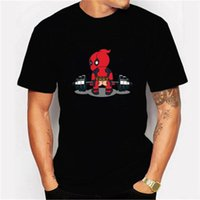 2020 Man Harajuku T-shirt Deadpool Casual Curto Masculino Tops I Am Unicorn Carta Cool vestuário Streetwear Camisetas Hombre Camiseta de T Homens