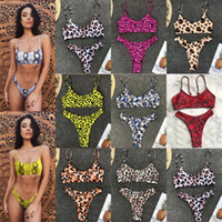 Bayan yastıklı Şınav Çekme Bikini Leopar Mayo Bayan Mayo Mayo Setleri