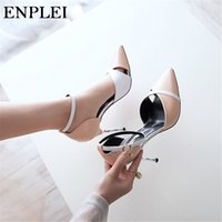 Enplei Sexy Pumps Women Fashion Wedding Shoes Ladies Party sandals summer Woman 6 cm Thin Heels Size 34-39
