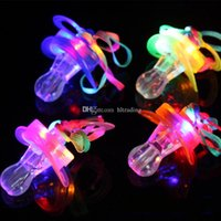 Light Pacifier shape LED Whistle toy Rave Party Glowing Flas...