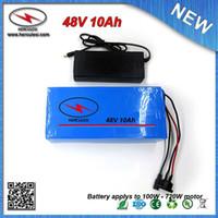 Deep Cycle Batterie PVC 700W Ebike 48V 10Ah encastré Li 3.7V 2000mAh 18650 cellule 15A BMS + 54.6V 2A chargeur LIVRAISON GRATUITE
