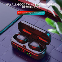 Wireless Bluetooth Earbuds 5.0 TWS V8 Touch Control Wasserdichte Kopfhörer Noise-Cancelling Wireless Earbuds LED Anzeigen-Sport-Headset