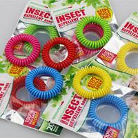 Mosquito Repellent Bracelet Elastic Bobine Spirale Spirale Bande de poignet Téléphone Anneau Anti-Mosquito Bracelets Anti-Mosquito Bracelet antiparasitaire VT1781