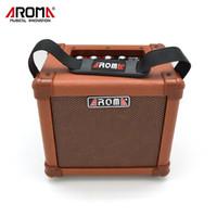 AROMA 10 W Kahverengi Amplifikatör Hoparlör Kutusu AG-10A Handy Taşınabilir Akustik Gitar AMP Ses